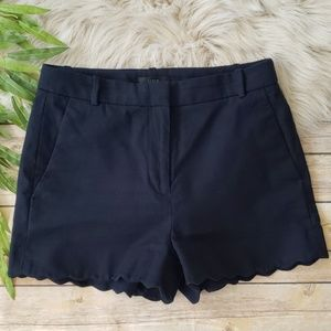 "J. Crew Cotton Blend 3"" Shorts with Scallop Hem"
